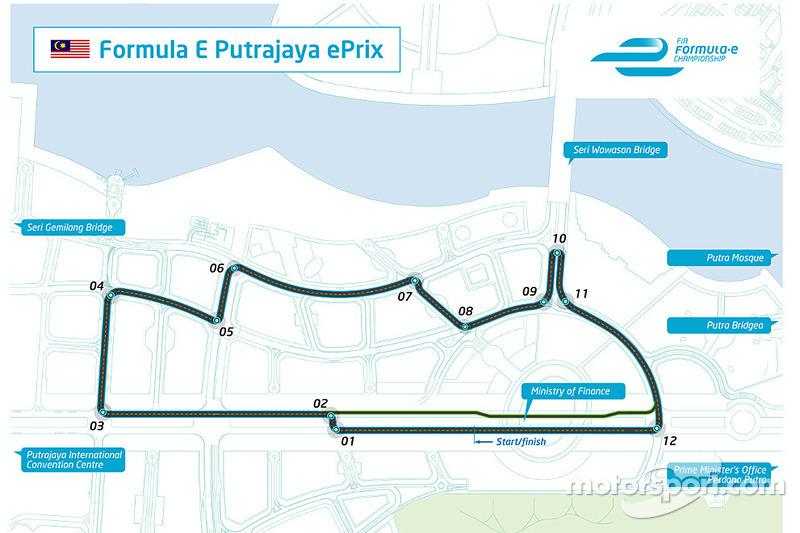 Il disegno del Putrajaya ePrix in Malesia