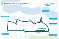 The layout of the Putrajaya ePrix in Malaysia