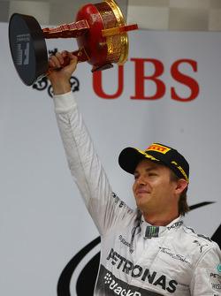 Secondo posto Nico Rosberg, Mercedes AMG F1
