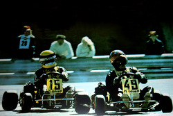 Terry Fullerton leads Ayrton Senna at Estoril