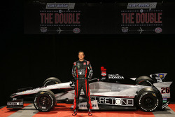 Kurt Busch with the Andretti Autosport entry he will drive at the Indy 500