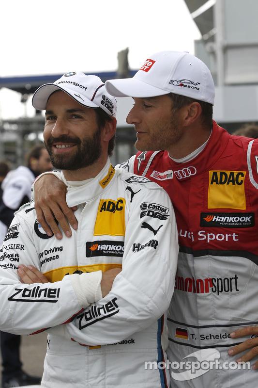 Timo Glock, BMW Team MTEK BMW M3 DTM e Timo Scheider, Audi Sport Team Phoenix Audi RS 5 DTM