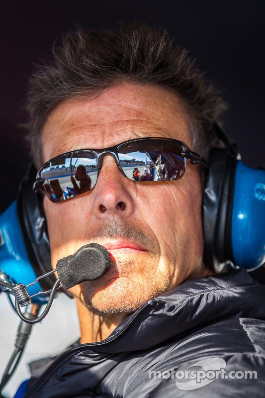 Scott Pruett watching qualifying