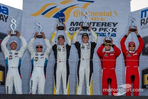 GTLM class podium: winners Jan Magnussen, Antonio Garcia, second place Bill Auberlen, Andy Priaulx, third place Giancarlo Fisichella, Pierre Kaffer