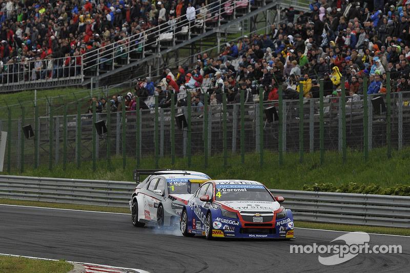 Tom Coronel, Chevrolet Cruze RML TC1, Roal Motorsport e Yvan Muller, Citroen C-Elysee WTCC, Citroen Total WTCC