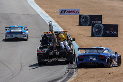 Trouble for the #46 Fall-Line Motorsports Audi R8 LMS: Charles Espenlaub, Charlie Putman
