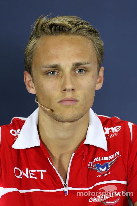 Max Chilton, Marussia F1 Team, durante a conferência de imprensa