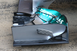 Mercedes AMG F1 W05 front wing detail