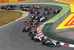 Nico Rosberg, Mercedes AMG F1 W05 yarışın startında