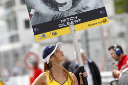 Grid girl of Mitch Gilbert