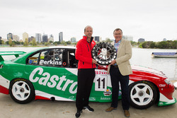 Australian Grand Prix Corporation CEO Andrew Westacott and Larry Perkins