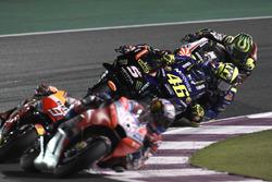 Valentino Rossi, Yamaha Factory Racing, overtakes Johann Zarco, Monster Yamaha Tech 3