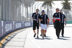 Track walk wth Sergio Perez, Force India