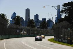 James Courtney, Walkinshaw Andretti United Holden, leads Tim Slade, Brad Jones Racing Holden