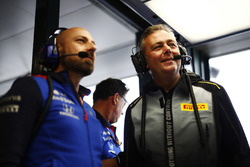 Mario Isola, Racing Manager, Pirelli Motorsport, in the Toro Rosso garage