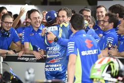 Il terzo classificato Alex Rins, Team Suzuki MotoGP