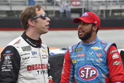 Brad Keselowski, Team Penske, Ford Fusion Discount Tire, Darrell Wallace Jr., Richard Petty Motorsports, Chevrolet STP