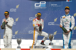 Podium: first place Rio Haryanto, Campos Racing, second place Stoffel Vandoorn, ART Grand Prix, third place Nathanael Berthon, Lazarus