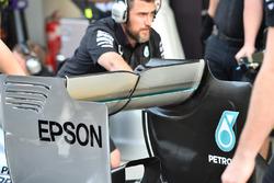 Mercedes AMG F1 W06 ala trasera