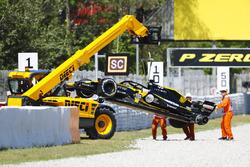 Разбитый автомобиль RS18 Нико Хюлькенберга, Renault Sport F1 Team