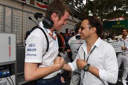 Rob Smedley, Williams, et Felipe Massa, sur la grille