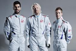 Сэм Берд и Хайме Альгерсуари. Объявление пилотов Virgin Racing, особое событие.