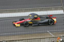 The car of Sebastian Saavedra, KV Racing Technology Chevrolet