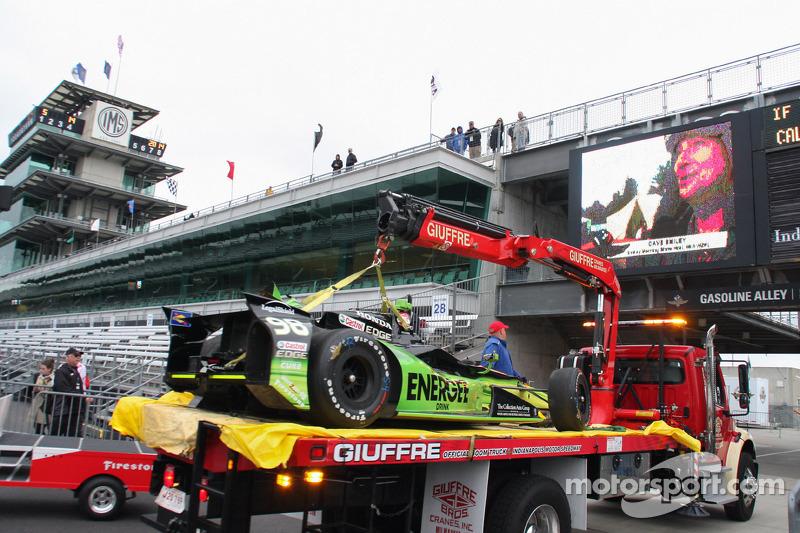 L'auto incidentata di Jack Hawksworth, Bryan Herta Autosport Honda