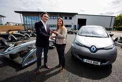 Alejandro Agag, CEO, receives the keys to an all-electric Renault road car