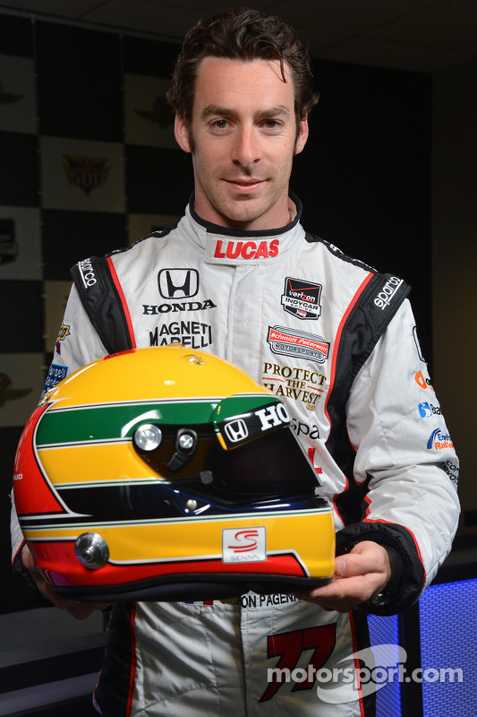 Simon Pagenaud y su homenaje al casco de Ayrton Senna