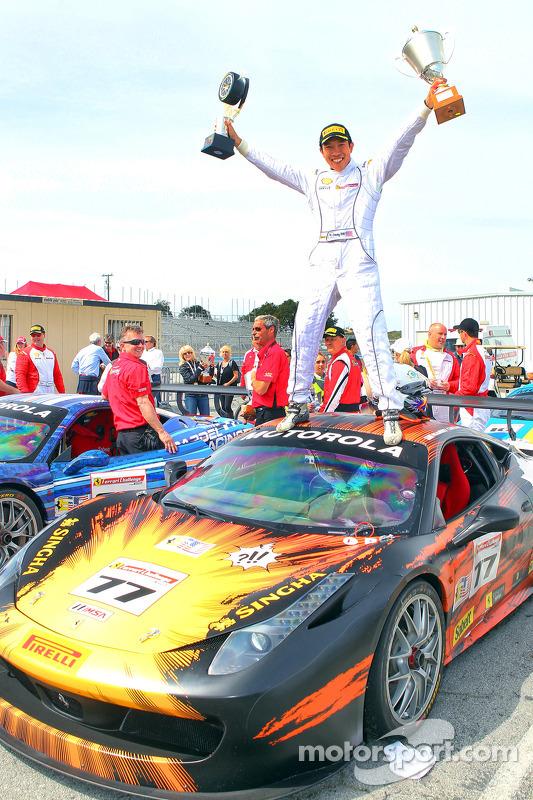 Race winner Harry Cheung