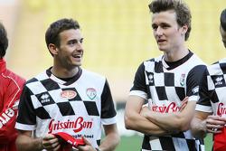 Jules Bianchi lors d'un match de football de charité