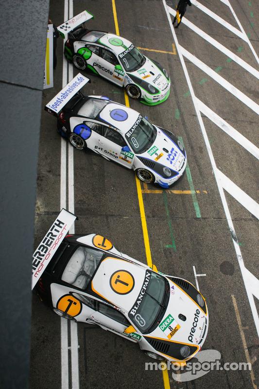Porsches no pitlane
