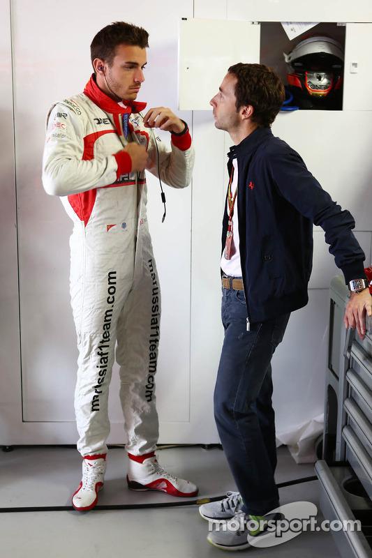 Jules Bianchi, Marussia F1 Team e Nicolas Todt,