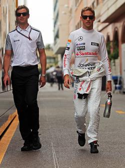 Jenson Button, McLaren with Mike Collier, Entrenador personal