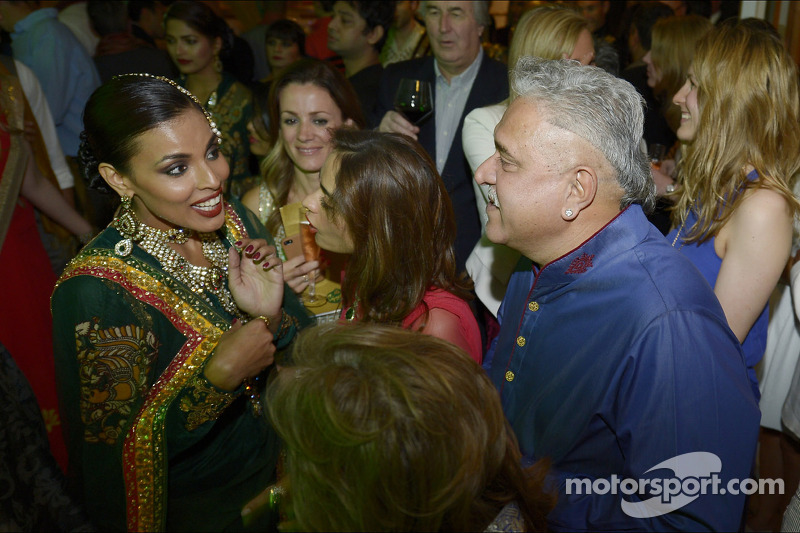 Dr. Vijay Mallya, Sahara Force India F1 Team Owner with guests at the Signature Monaco Party on the Indian Empress Boat