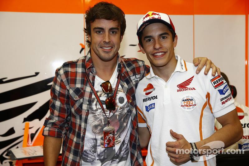 Fernando Alonso ve Marc Marquez