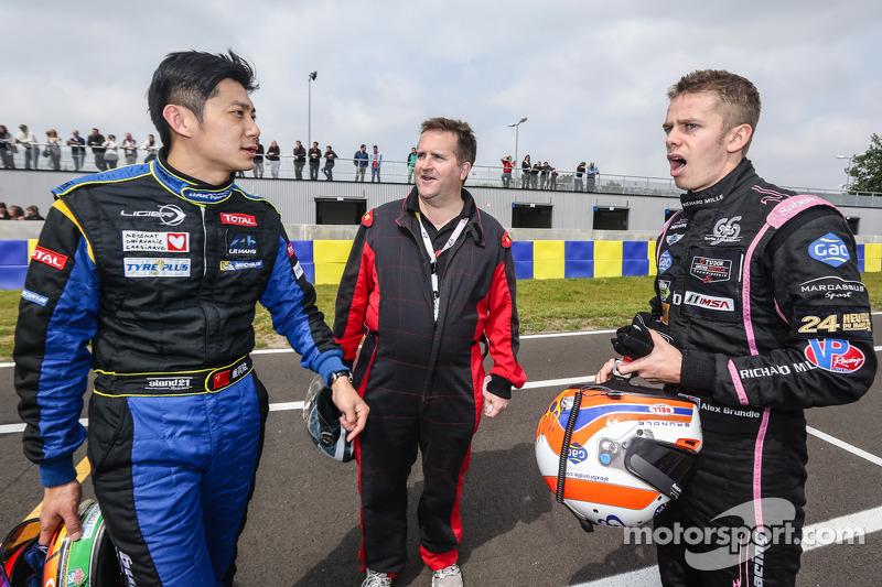 Ho-Pin Tung, Motorsport.com's Eric Gilbert ve Alex Brundle. Photo Clément Marin / DPPI