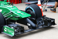 Caterham CT05 front wing detail