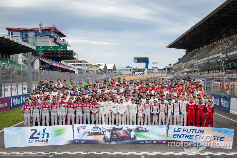 Drivers photoshoot: the 165 drivers in the 2014 24 Hours of Le Mans