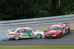 Tony Absolom, Vauxhall Cavalier makes contact with Steven Dymoke Alfa Romeo 156