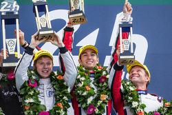 LMP2 podium: class winners Simon Dolan, Harry Tincknell, Oliver Turvey