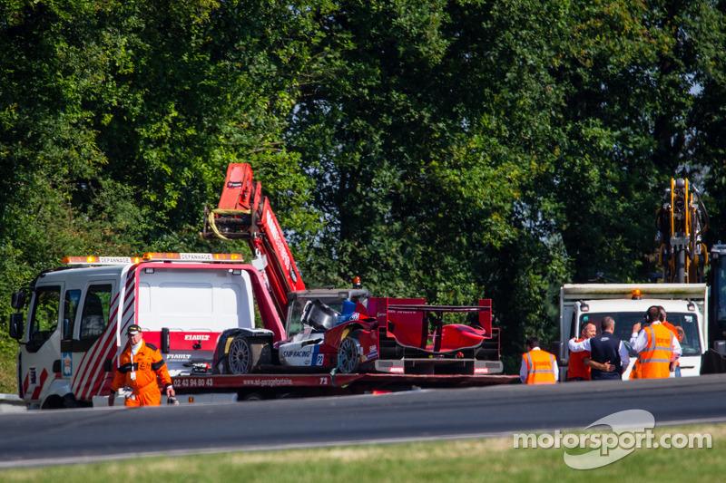 Distrutta la #27 SMP Racing Oreca 03 - Nissan dopo l'incidente di Mika Salo