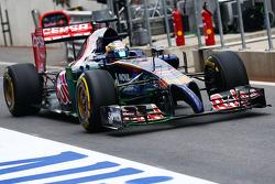 Jean-Eric Vergne, Scuderia Toro Rosso STR9, mit FlowViz-Farbe