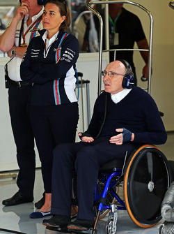 Frank Williams, Williams, Teambesitzer, mit Claire Williams, Williams, Stellvertretende Teamchefin