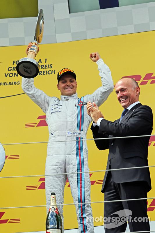 Valtteri Bottas, Williams celebra seu terceiro no pódio