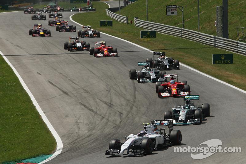 Valtteri Bottas, Williams FW36 alla partenza