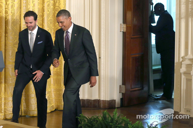 Jimmie Johnson in visita al presidente Barack Obama alla Casa Bianca