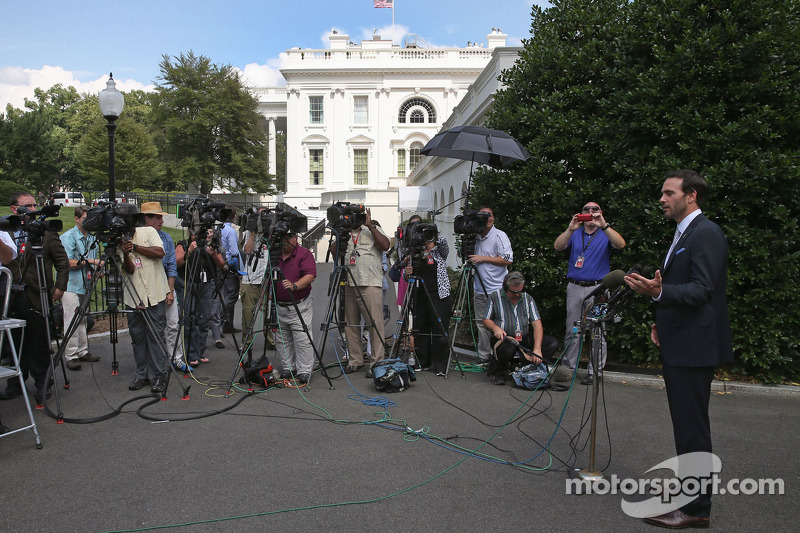 Jimmie Johnson in visita al presidente Barack Obama alla Casa Bianca