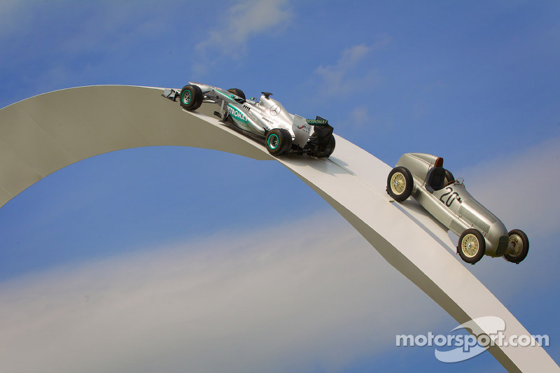 Goodwood Festival of Speed 2014 Mercedes in mostra